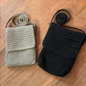 Handbags - Two crossbody purses - black and silver/grey